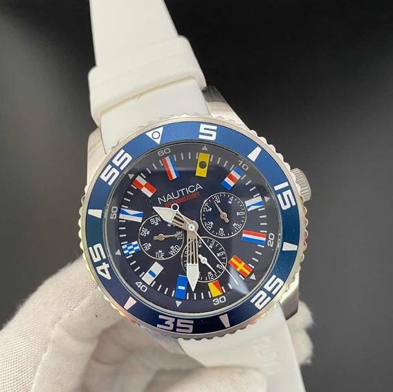 Relógio Nautica Masculino Aço - Napwhc001