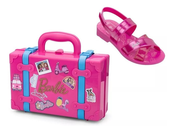 Sandália Barbie Infantil Menina + Brinde Grendene