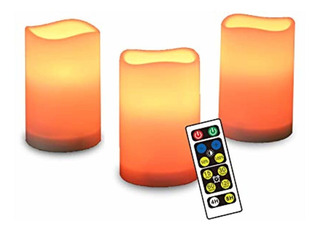 Sharewin Flameless Candles With Timer,led