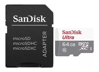 Memoria Microsd 64gb Micro Sdxc Clase 10 Sandisk 80mbs Ramos