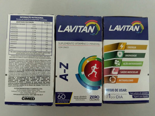 3 Cx De Lavitan A-z C/60 Comp - Supl Vitamínico-mineral