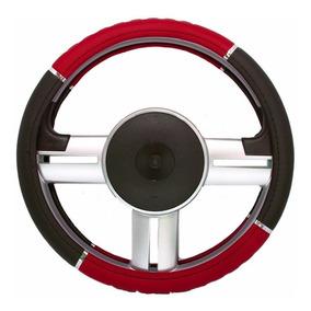 Capa Revestimento De Volante Universal Vermelha Com Preto