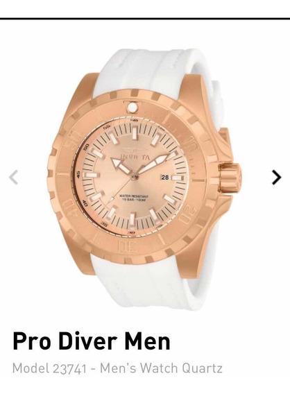 Relógio Invicta Pro Diver Modelo 23741 Det Ouro Rosé 18k