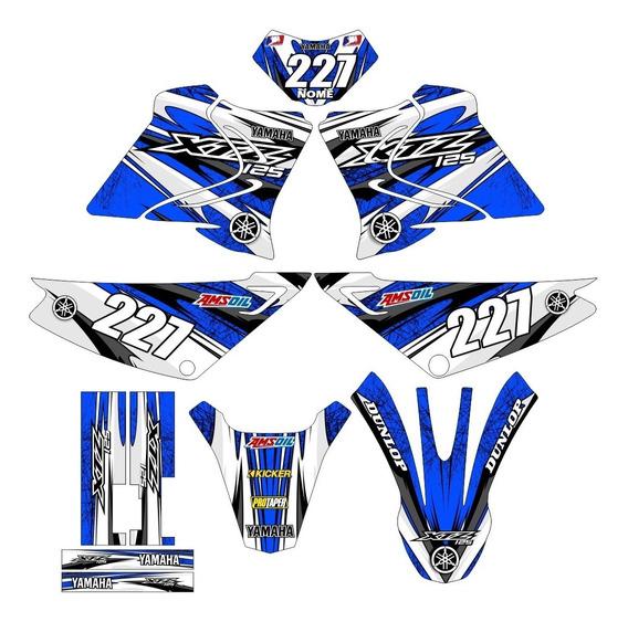 Kit Adesivos Trilha Gráficos Xtz-125 Motocross 0.28mm Md-23