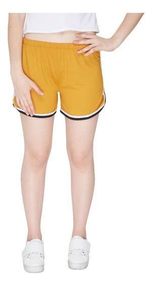 Short De Mujer American Wear Doble Bies Moda Cómodo