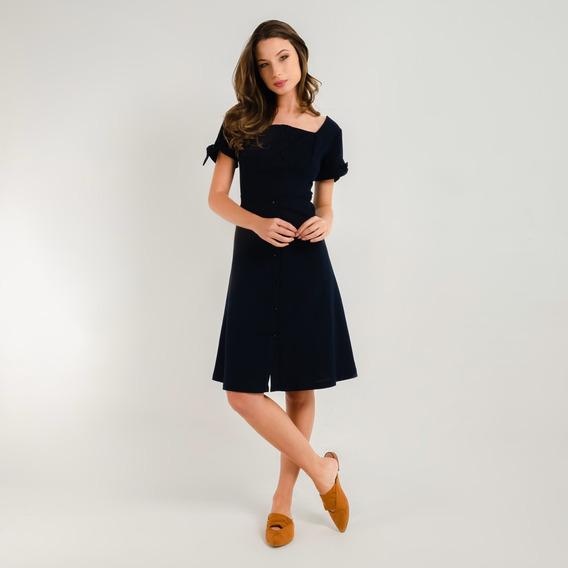 Vestido 97258cl Color Azul Talla S Fds