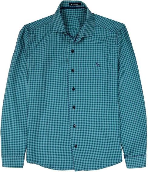 Camisa Manga Larga Estampada Hombre | Bravo Jeans (28388)