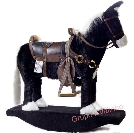 Cavalinho De Balanço - Pelúcia - Madeira -cavalinho Infantil