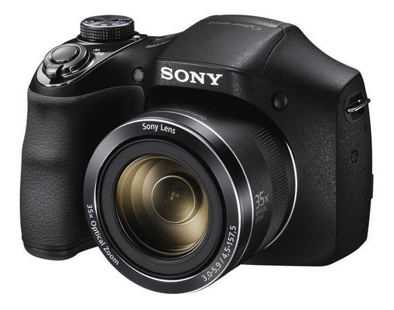 Câmera Sony Dsc H300 Lcd 3.0 20.1mp Zoom Óptico De 35x