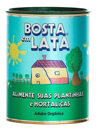Fertilizante Orgânico Bosta Em Lata Plantas E Horta - 500 G