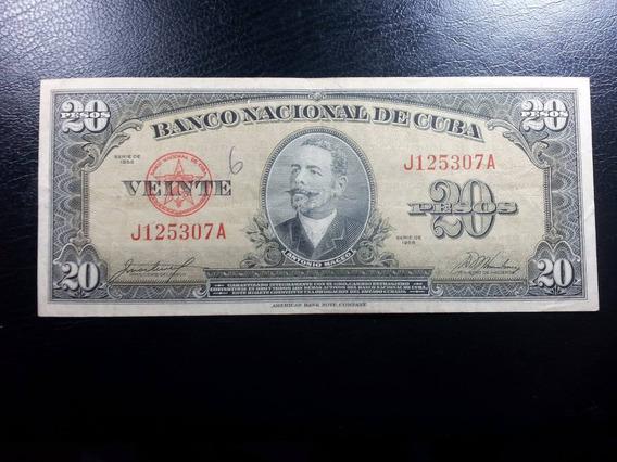 Antiga Cédula De Cuba, 20 Pesos 1958, Pré-revolução #0043