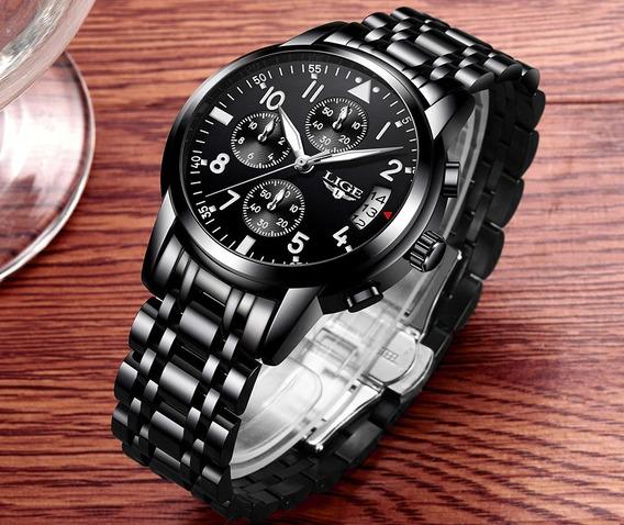 Relógio Luxo - Masculino Original Lige