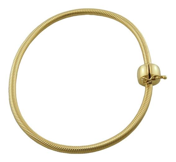 Pulseira Bracelete Para Berloque 19 Cm Ouro 18k 750
