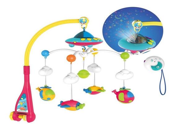 Movil Giratorio Bebe Con Melodias Y Proyecciones Cunero Baby