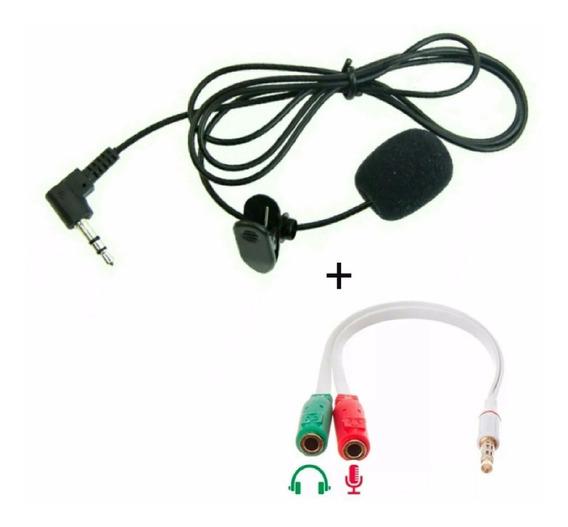 Microfone Lapela + Adaptador Celular, Smartphone- Youtubers