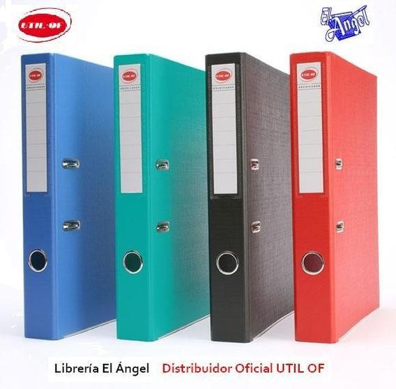 Bibliorato Oficio Y A4 Plastificados Lomo Angosto Util Of