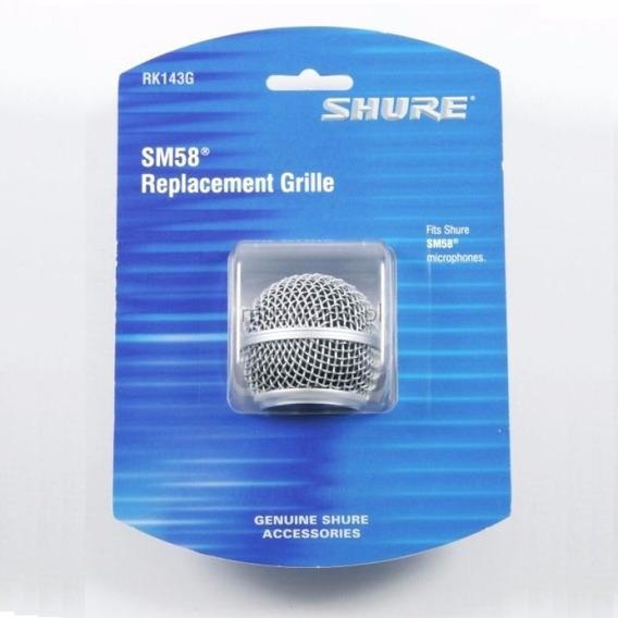 Globo Shure Original Rk143g P/ Microfone Sm58