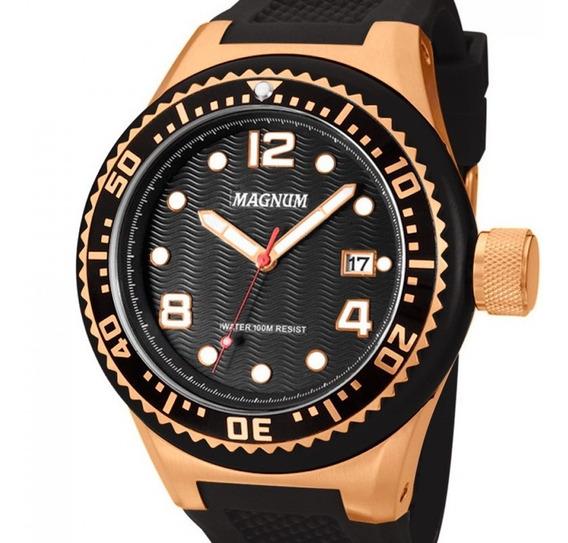 Relógio Magnum Masculino Preto Ma34021p
