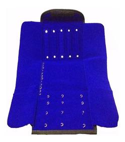 Mostruário Jóias Extra Grande Em Veludo Azul 30 X 72 Cm