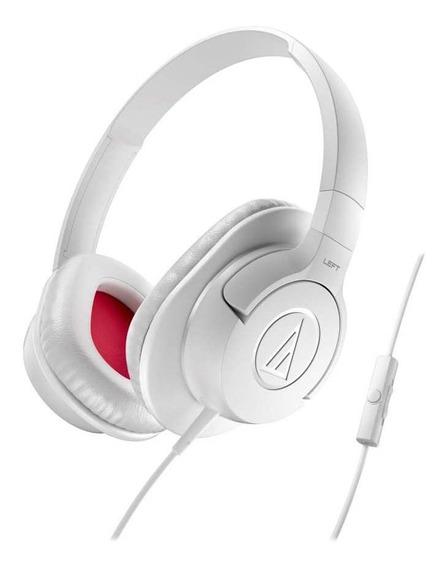 Fone De Ouvido C/ Mic Audio-technica Over-ear - Ath-ax1iswh