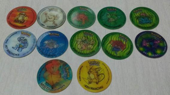 Lote De 12 Tazos Pokemon 3d Nintendo 1998 Argentina