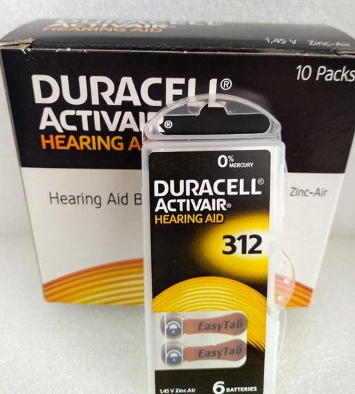 Pilhas/baterias Para Aparelho Auditivo Ref. 312 Duracell