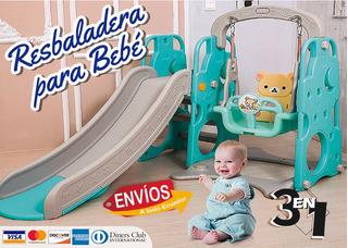 Columpio, Resbaladera Aro De Basket Para Bebé