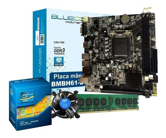Kit Intel Processador Core I5 2500 + Placa Mãe H61 + 4gb Ram