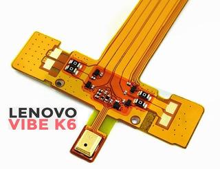 Cabo Flex Microfone Lenovo Vibe K-6 K33b36 (envio Por Carta)