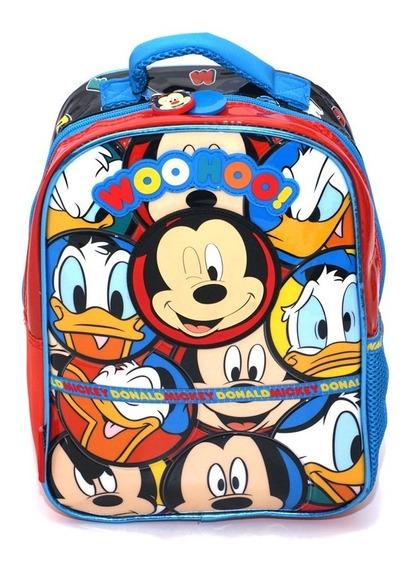 Mochila Mickey Disney Original Línea Premium Jardín Niños