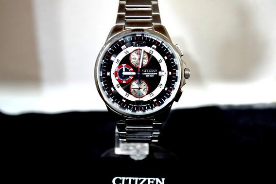 Relogio Citizen Original Masculino Cronografo Prata C Preto