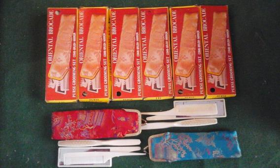 Lote De 6 Juegos De Peines Y Espejos Tipo Oriental Vintage
