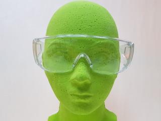 8 Pzas Lente Seguridad Trans Tipo Goggle Ventilación Lateral