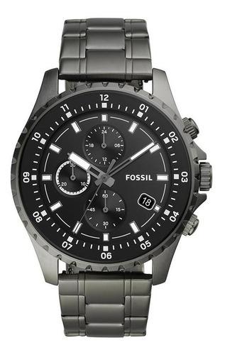 Relógio Masculino Fossil Fs5673/1cn 48mm Aço Grafite