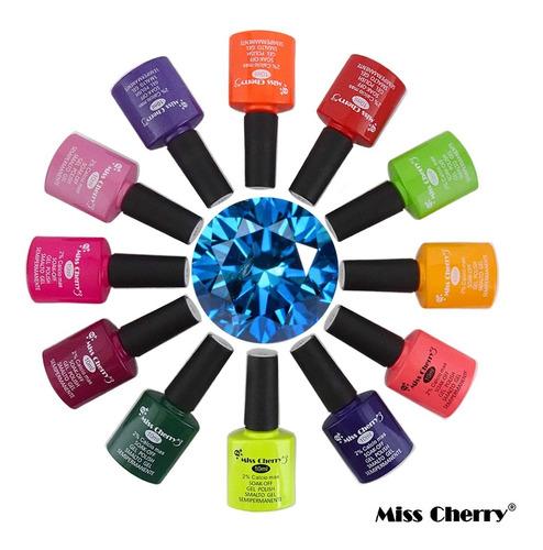 Imagen 1 de 7 de Gama Colores Miss Cherry Gelish + Gratis Base Top Y Envio