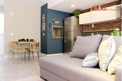 Apartamento Com 2 Dormitórios, Terraço E 2 Vagas No Bairro Bom Fim - Ap4006