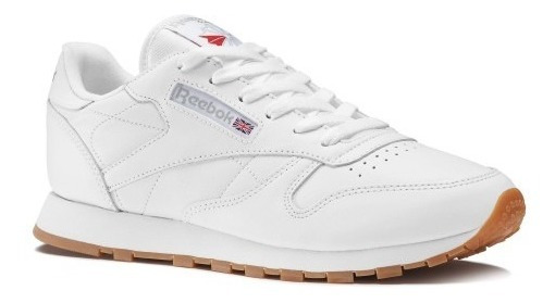 Tênis Reebok Classic Leather Junior Original Branco Feminino