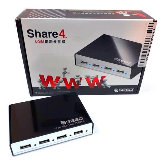 Servidor De Rede Lan 4 Portas Usb Share4 - A Pronta Entrega