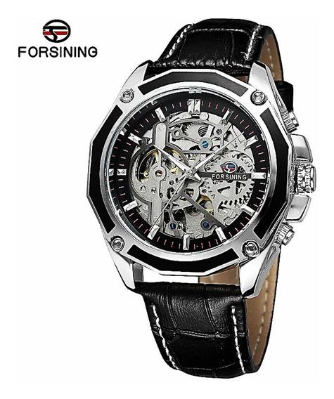 Reloj Hombre Automatico Skeleton Cuero - Original Importado