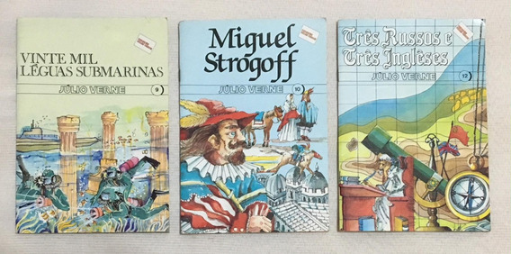 Coleção Júlio Verne - Editora Rideel - Número 9/10/12 (1988)