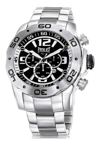 Relógio Everlast Masculino E549 Cronógrafo Calendário