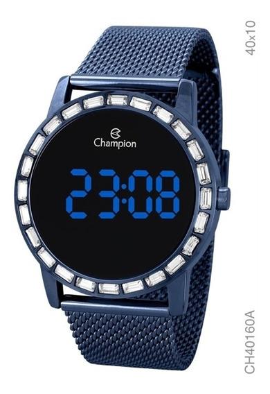 Relógio Champion Digital Led Azul Feminino Ch40160a