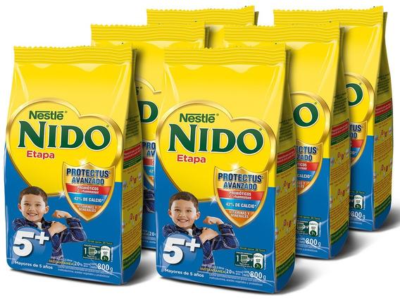 Leche Nido 5 + Protectus® 800g Bolsa Pack X6