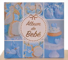 Álbum Diário Do Bebê Menino 10x15 Azul