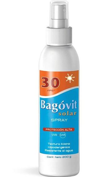 Bagóvit Protector Solar Fps 30 Spray Rostro Y Cuerpo 200g