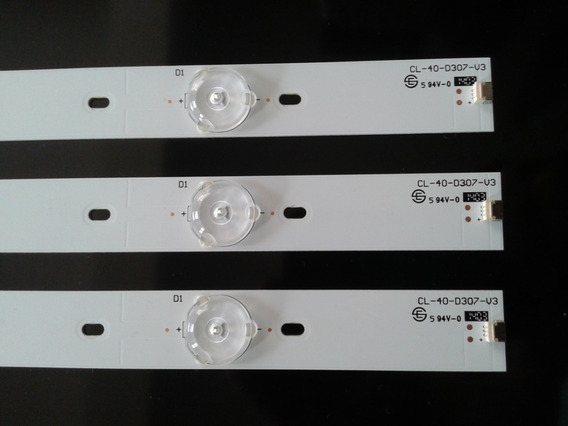 Kit Com 3 Barras Led Tv Philips 40pfg4109 Novo !!