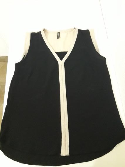 Musculosa Holgada Talle M Marca Inversa Color Negro-blanco