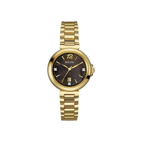 Relógio Bulova Wb27903r Dourado Feminino Original