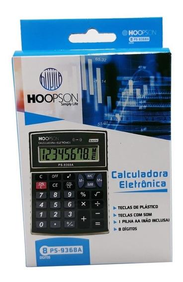 Calculadora Eletrônica 8 Digitos Truly Grande A Pilha 2 Un.