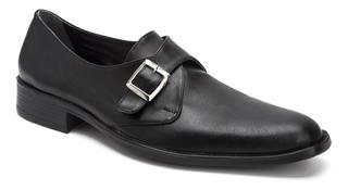 Zapatos Eco Cuero Vestir Hombre Con Hebilla Importados Usa
